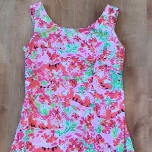 Lilly Pulitzer Call Me Kitty Cat Delia Shift 0 XS